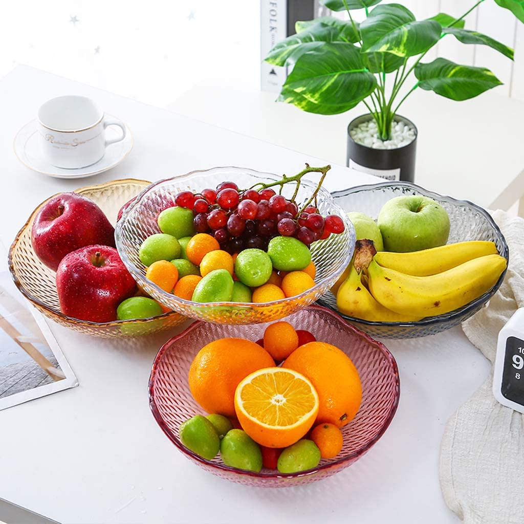 jiulonerst Plastic Fruit Snack Candy Bowl Dish Serving Tray Plate Container