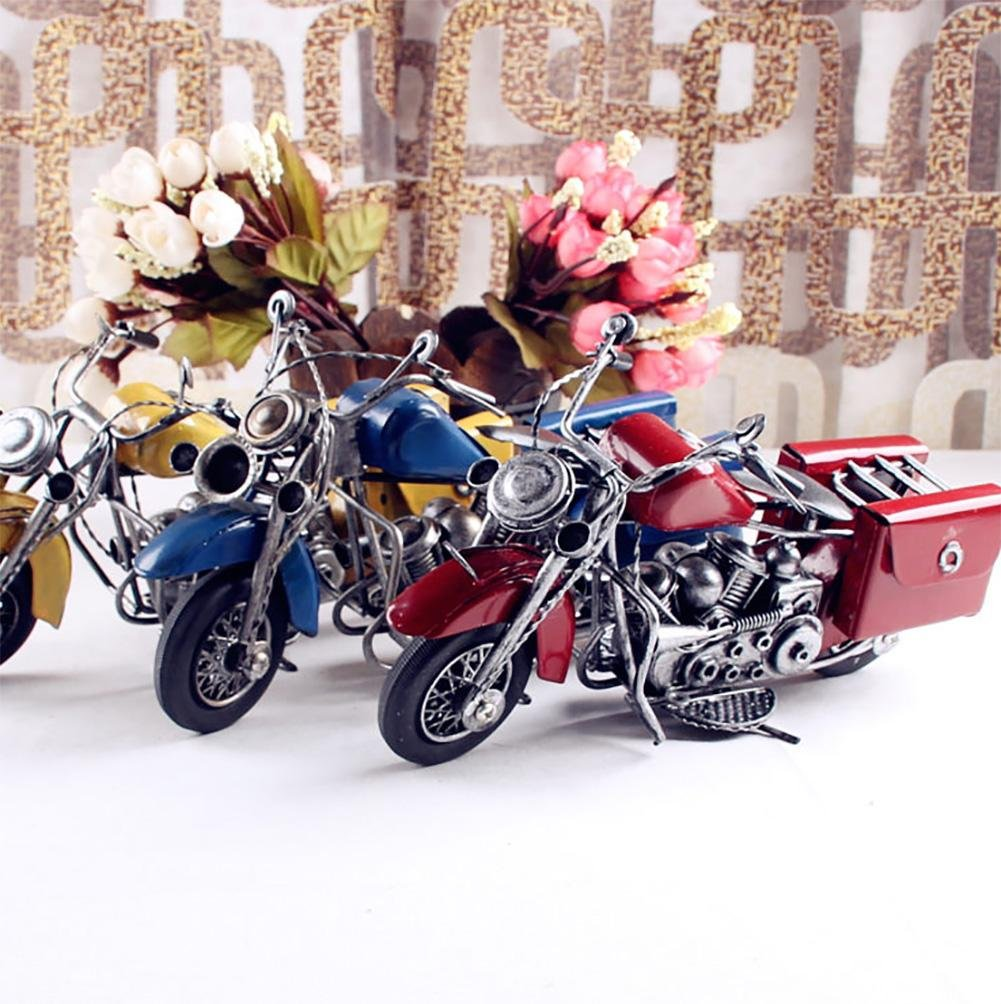 XL-US-Vintage crafts small iron motorcycle model in Europe and America 22.58.813.5cm , a group of 3