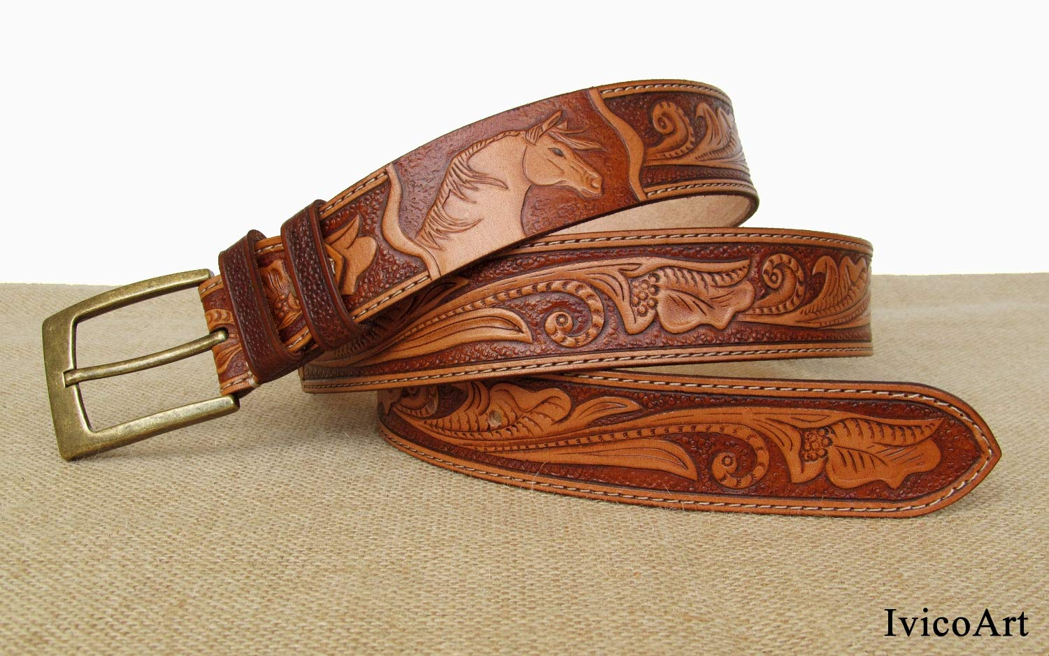 mens western belt Leather Belt cowboy belt western belt tooled leather belts