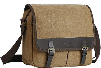 200e48a7e4 Eshow Men s Messenger Shoulder Bag Canvas Cross Body Pack Bag Daily Use  Travel School Shopping (