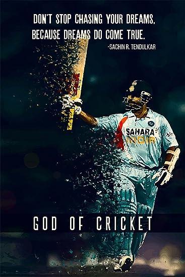 Cricket Wall Art India ART PRINT Sachin Tendulkar illustration Sport