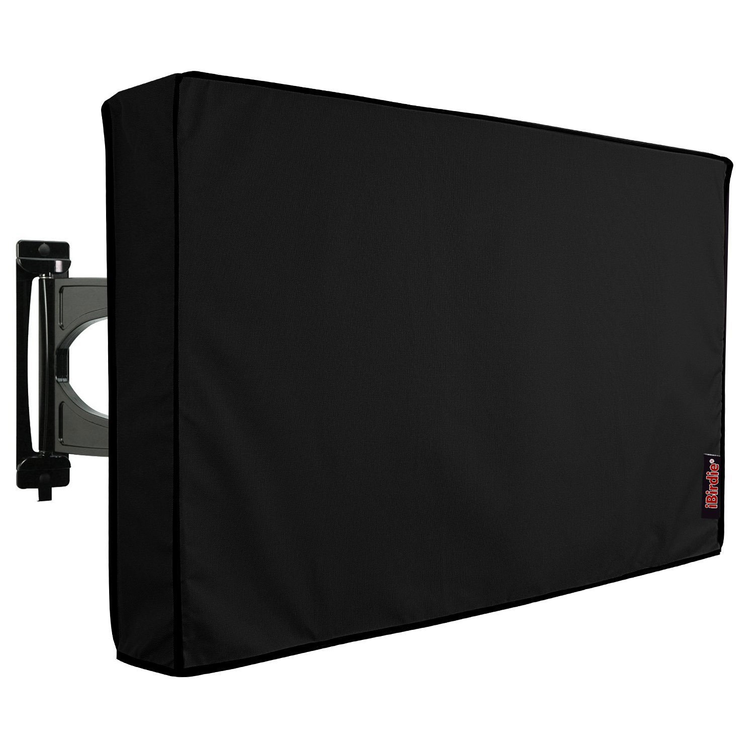 Outdoor TV Covers 52'' - 55'' by iBirdie- with Inside Bottom Cover and Scratch Resistant Liner - Weatherproof &Dust-proof -300 Denier Polyester Material-Compatible with Wall Mounts and Stands