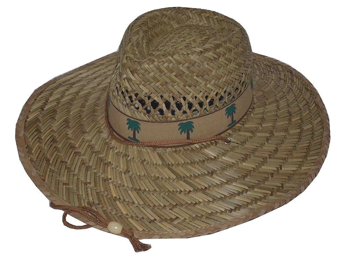 JKO Palm Tree Print Straw Summer Lifeguard Hat
