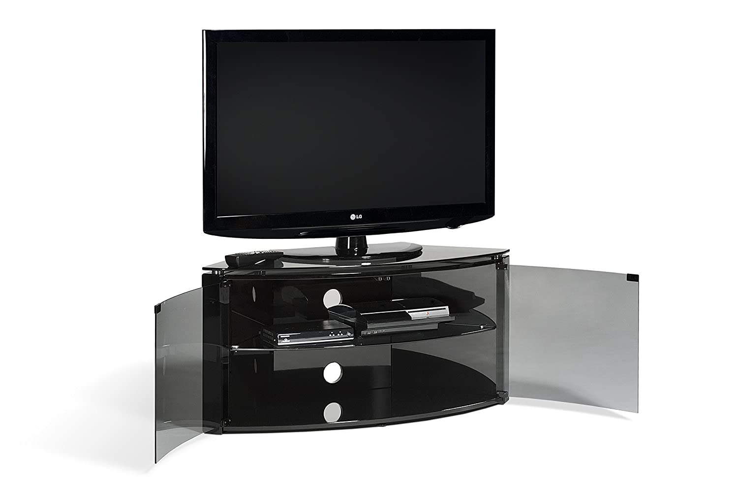 Techlink Corner Bench Enclosed Glass Display Tv Stand Tv Unit