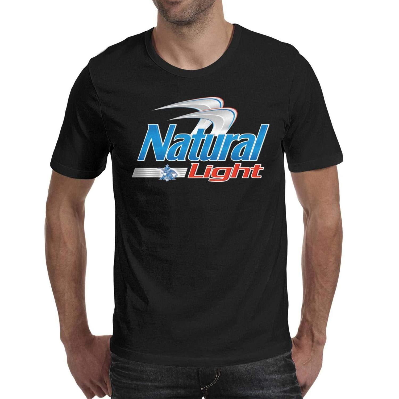 S Round Neck Adult Tshirts Naturallightbeerlogo Design Top