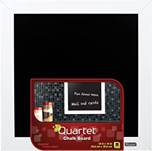 "Quartet Chalkboard, 14"" x 14"" Chalk Board, White Wood Finish Frame (90006-A)"