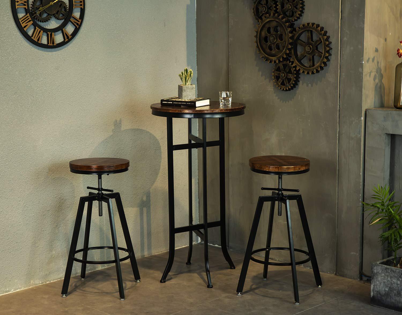 Amazon.com: Bar Bistro Cocktail Pedestal Mesas para Cocina ...