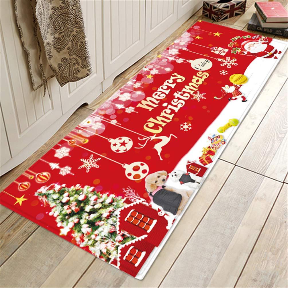 Alfombra Estampado de Navidad Cojiacute;n Puerta Alfombrillas Puerta Puerta Puerta Funda de bantilde;o Alfombra Impermeable Antideslizante 339b65