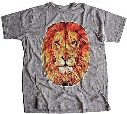 ae36c1cc853582 A001-060g Leo Herren T-Shirt Lion Abstract Art Hipster Fashion King Rasta(