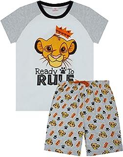 Disney The Lion King Short Pyjamas Boys Girls Simba Shortie Pjs