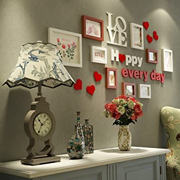 GYP Cadre Créatif Mur, Bois Classique Moderne Salon Simple Chambre  Combinaison Photo Suspension Murale Décoration