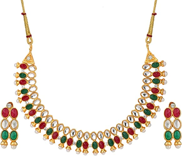 Amazon Com Efulgenz Indian Bollywood Ethnic Red Green Rhinestone
