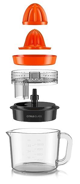 Taurus Citrus Glass-Exprimidor (rotación de Doble Sentido, Capacidad Total 1 l), 30 W, 1 Liter, 0 Decibeles: Taurus: Amazon.es: Hogar