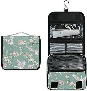 حقائب مكياج للسفر، حقائب أدوات الزينة المحمولة، حقيبة تخزين كبيرة مربعة متعددة الوظائف مضادة للماء مع سحاب، منظم اكسسوارات التجميل التجميل للنساء والفتيات, , طيور الزهور - yfg36073926p313c350s593