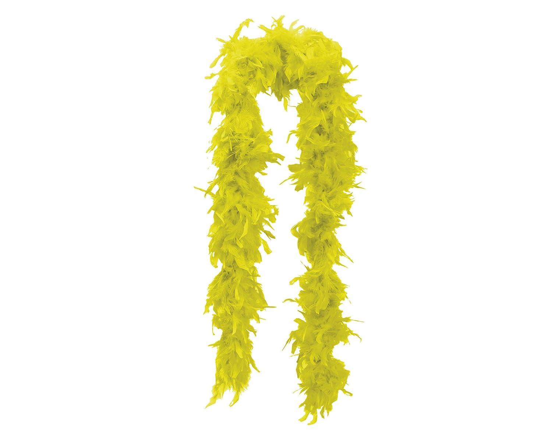 My Other Me Me - Boa para mujer, 75-80 g, color amarillo (Viving Costumes 201449) Viving Costumes_201449 Accesorio disfraz boa 75-80 grs amarilla boas