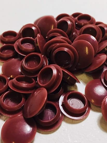 BROWN 10MM HOLE COVER CAP KITCHEN CABINET FURNITURE HOLE BLANKING PLASTIC CAPS