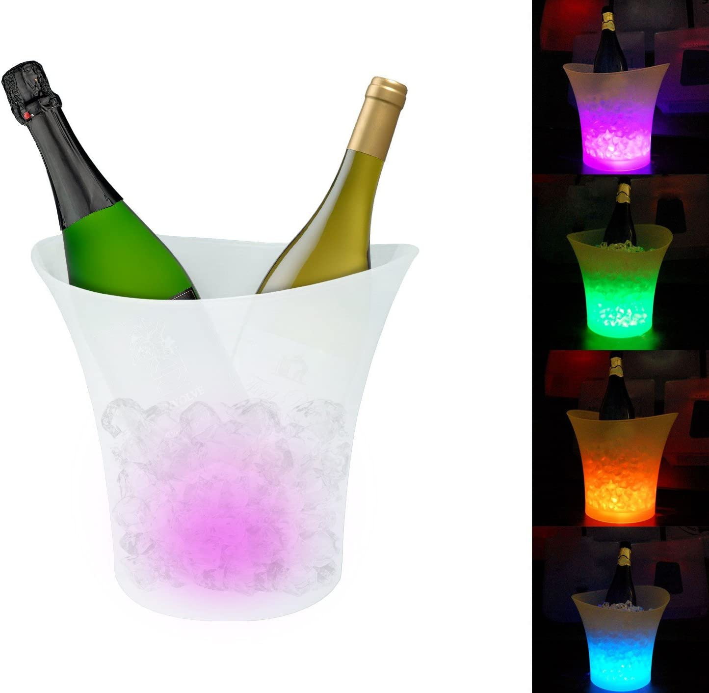 Cubitera LED cambio de color automático - Accesorio ideal para fiestas y eventos