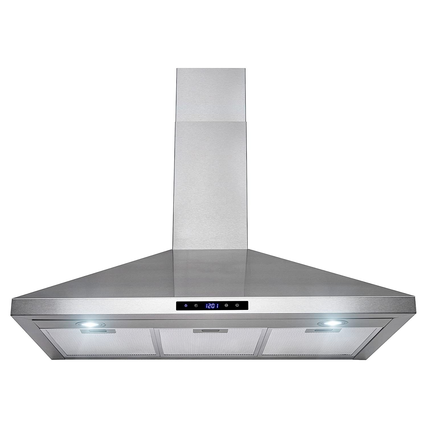 Golden Vantage 36 Stainless Steel Wall Mount Touch Control Kitchen Cooking Range Hood Vent Fan