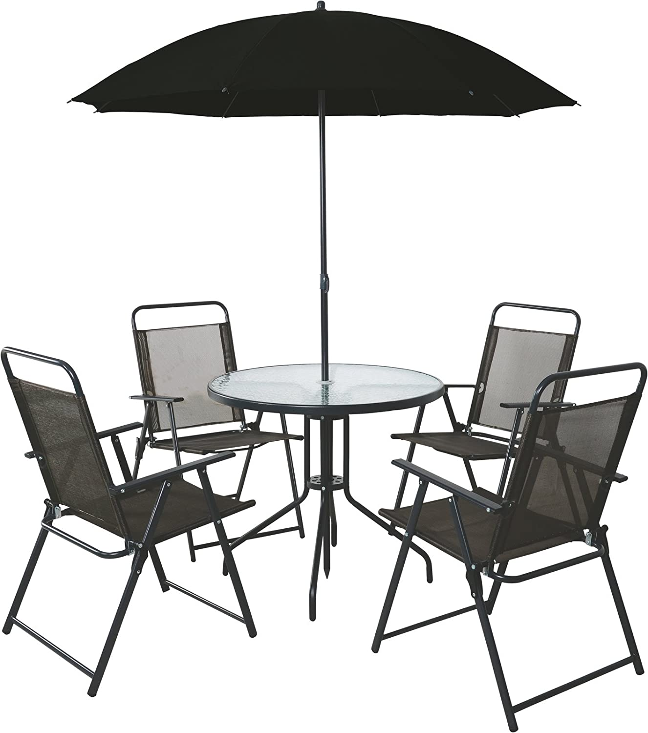 4 Seater Outdoor Garden Furniture Dining Set Round Table & Chairs