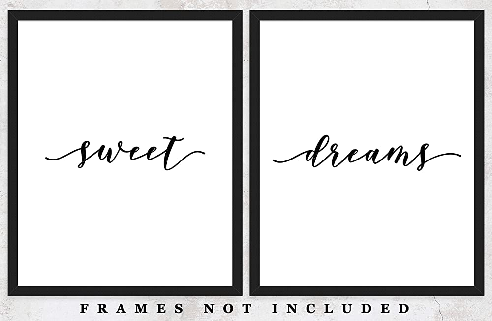 Posters Prints Home Sweet Dreams Set Of Two 11x14 Unframed Typography Art Prints Great Gift For Bedroom Decor