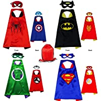 Yalla Baby Superhero Costume Capes and Masks for Kids Boys Girls 3-12 Years - Kids Costumes Double Side Capes Best…