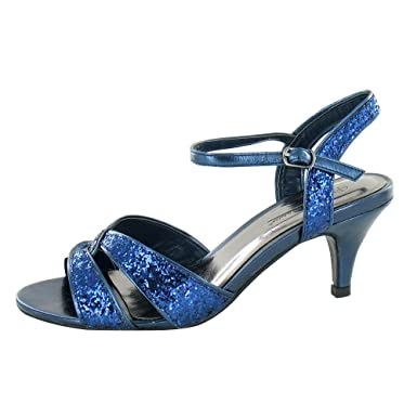 f1414ea46d73 Anne Michelle Womens/Ladies Twisted Glitter Heeled Sandals (4 UK ...
