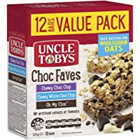 UNCLE TOBYS Chewy Choc Faves Muesli Bars, 12 Bars Value Pack, 375g