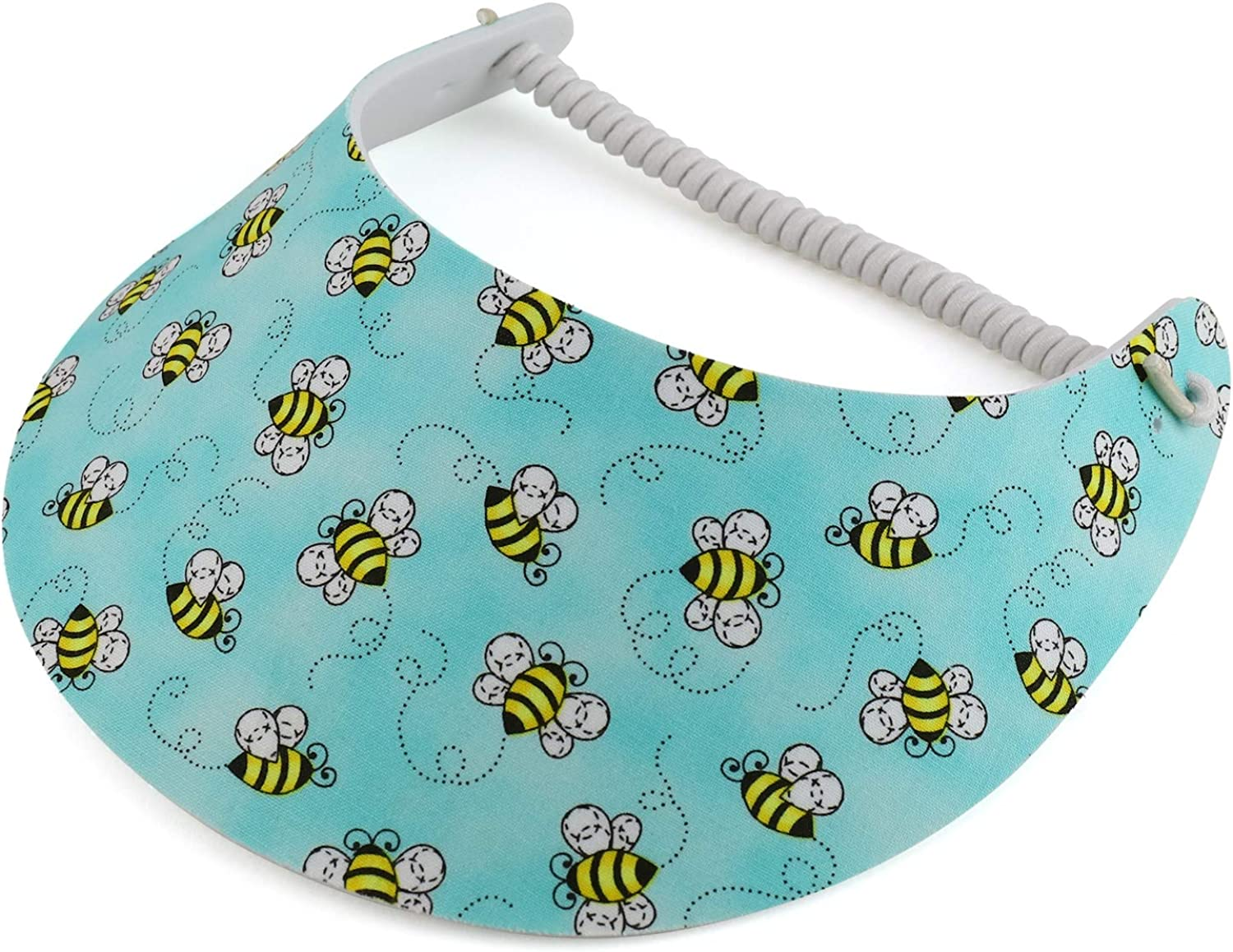 Trendy Apparel Shop Made in USA Insects Elastic String Coil Foam Sun Visors