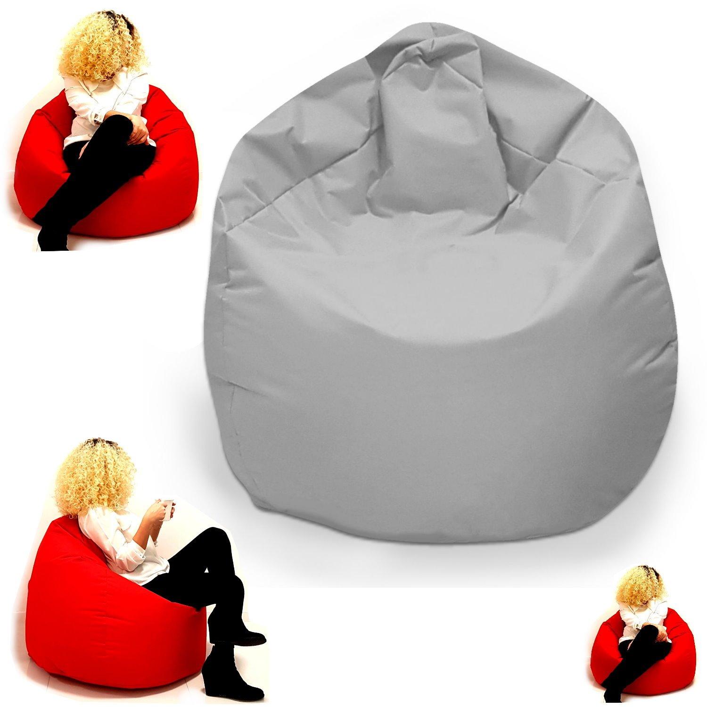 Sitzsack Sessel XL f/ür Kinder und erwachsene In /& Outdoor Sitzs/äcke Kissen Sofa Hocker Sitzkissen Bodenkissen XXL mit F/üllung XXL ca.78cm Durchmesser, Grau