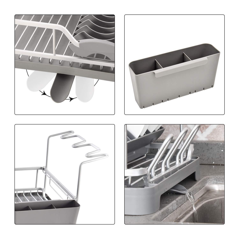 Amazon.com: Dish Rack - Aluminum Dish Drying Rack with ...