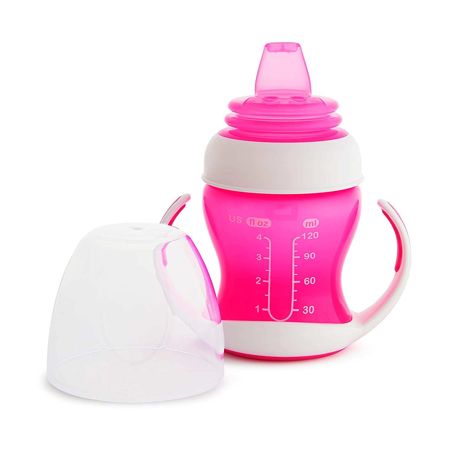 4 Ounce Munchkin Gentle Transition Trainer Cup Pink
