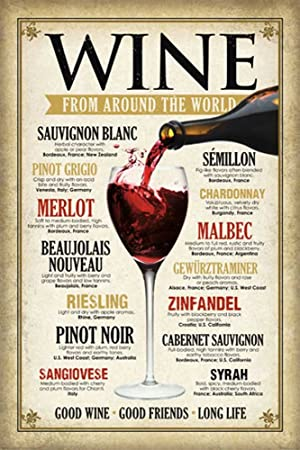 Empire Vintage Wine Around The World Poster With Accessory Amazoncouk Kitchen Home