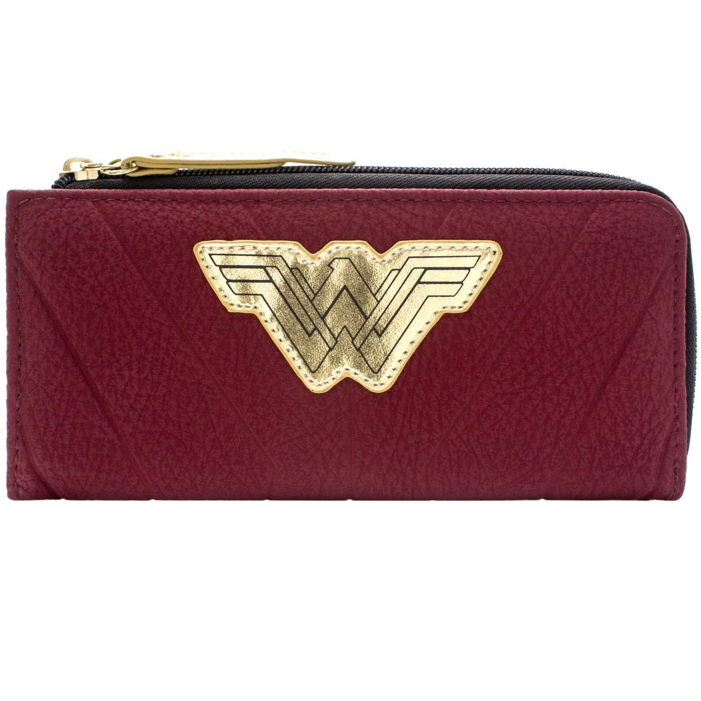Cartera de DC Wonder Woman Guerrero Traje Rojo