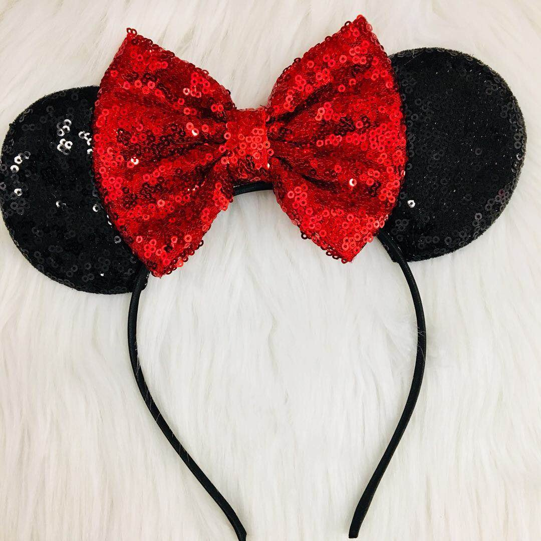 Amazon Clgift Red Sparkle Minnie Mouse Ears Headbandred Sequin