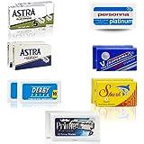 100 cuchillas de afeitar - Recambios para maquinillas de doble hoja Astra   Derby   Shark   Dorco   Supermax