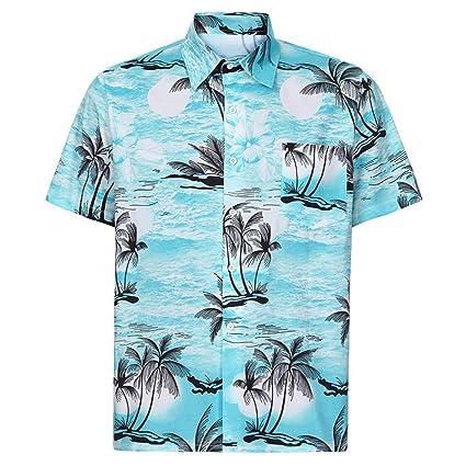4c3c3733b LuckyGirls Camisa Camisetas Originales Hombre Manga Cortos Verano Estilo  Hawaiano Moda Polos Deportivas Blusa Casuales Slim