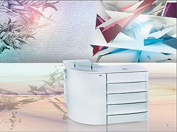 beauty lshaped salon reception desk all purpose salon spa office reception counter sandia - Salon Reception Desk