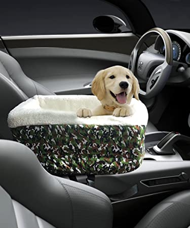 Center Console Pet Car Seats Meago Booster Dog Seat Cashmere Cream Fur For Small Pets