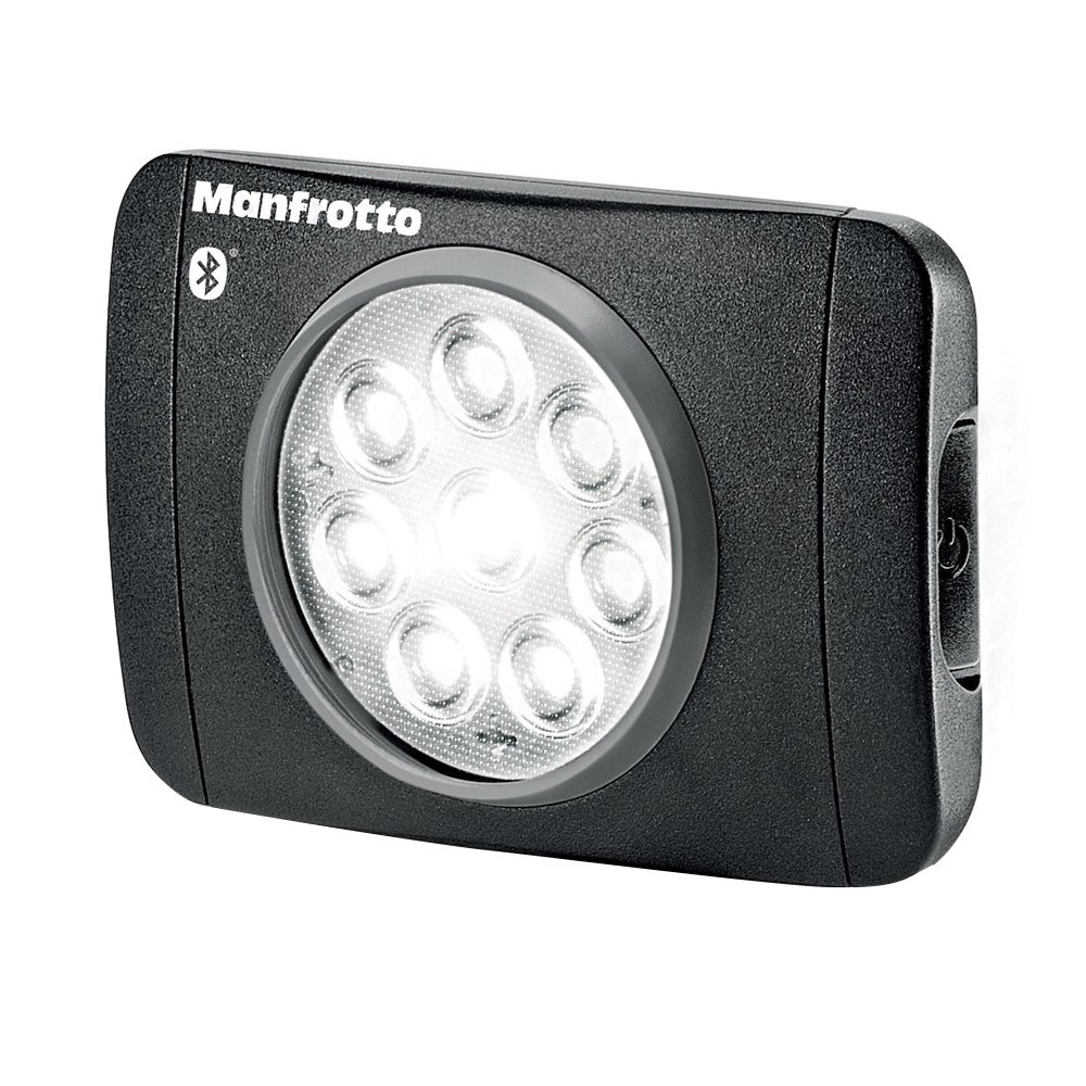 Manfrotto Lumimuse 8 On-Camera Led Light with Built-in Bluetooth Black, Compact (MLUMIMUSE8A-BT)