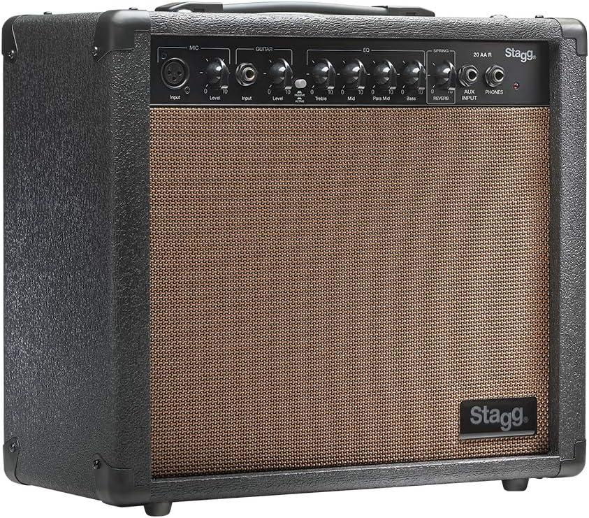 Stagg Stagg - Amplificador para guitarra acústica (20W, 3-Band EQ ...