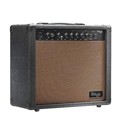 Stagg Stagg - Amplificador para guitarra acústica (20W, 3-Band EQ),