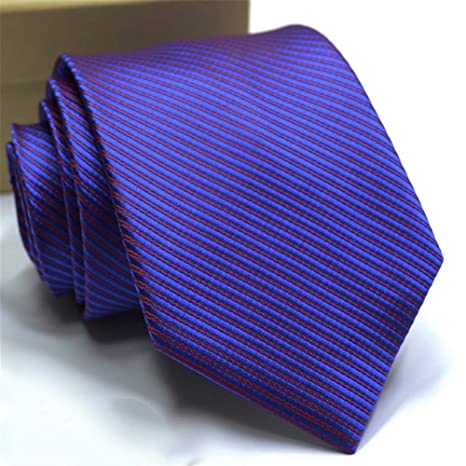 Zjuki corbata 8 Cm Corbata para Hombre Corbata de Lujo con Rayas ...