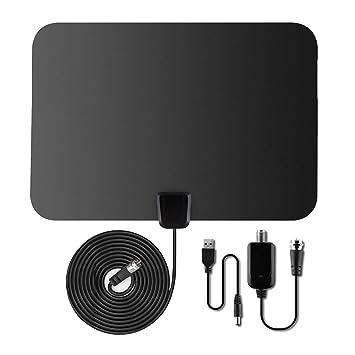 La antena de televisión XinXu 80Km digital TV antena desmontable con amplificador amplificador de señal para