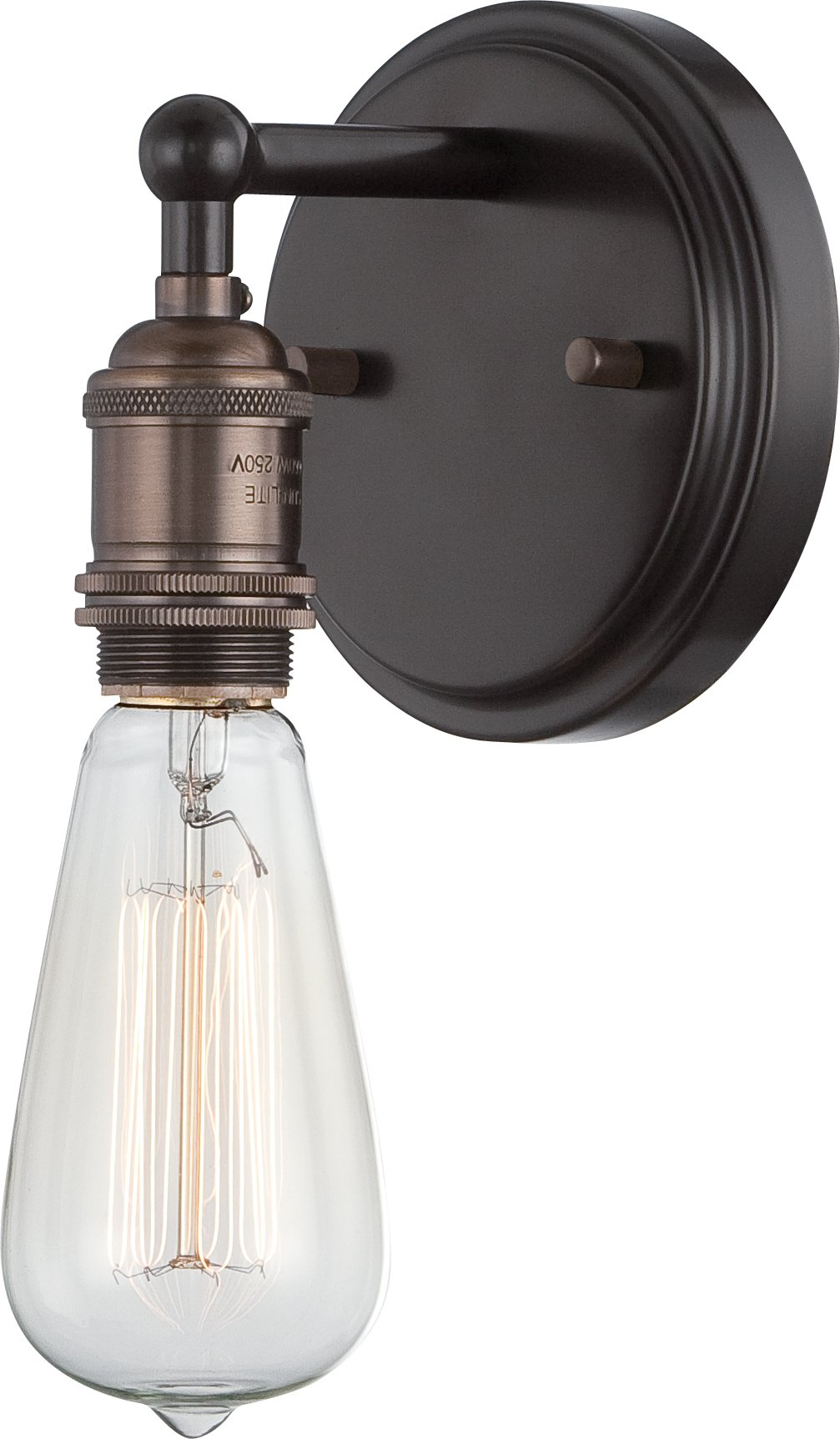 Nuvo Lighting 60/5515 Vintage Incandescent One Light Wall Sconce Rustic Bronze