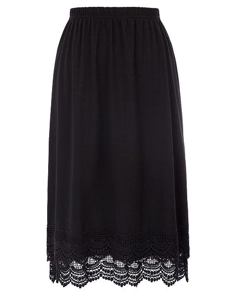 f1e27448e7 GRACE KARIN Knee Length Underskirt Double Lace Skirt Extender Half ...
