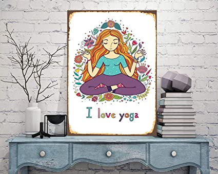 Amazon.com: I Love Yoga, Yoga Print, Yoga Sign, Yoga Home ...