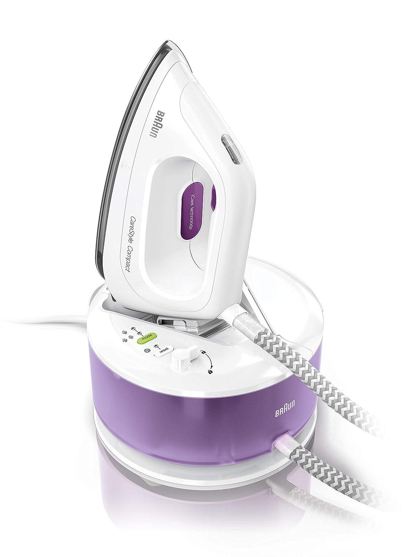 Braun carestyle Compact is2044vi–Centro di stiratura, 2200W, suola 3d Eloxal Plus, vapore costante 230g/min, 350g/min di Colpo di vapore DeLongh 0128801001