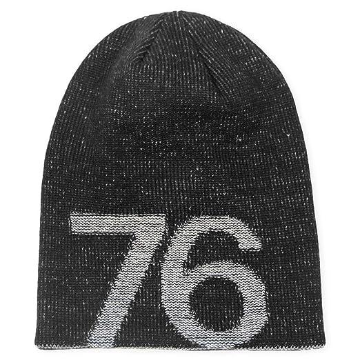 37a53201c97 LETHMIK 76 Winter Slouchy Beanie Hat Unisex Acrylic Knit Long Skull Cap  Black
