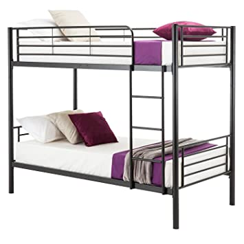Amazon Com Mecor Metal Bunk Bed Twin Over Twin Easy Assembly