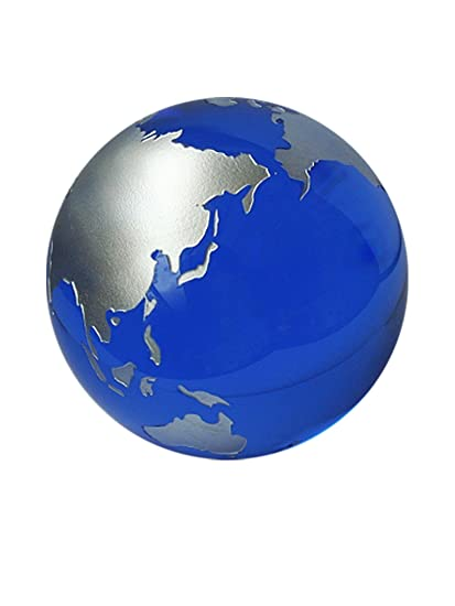 Qwirly 2quot Earth Globe Lead Free Glass Ball Large Marble Great In Photography Props